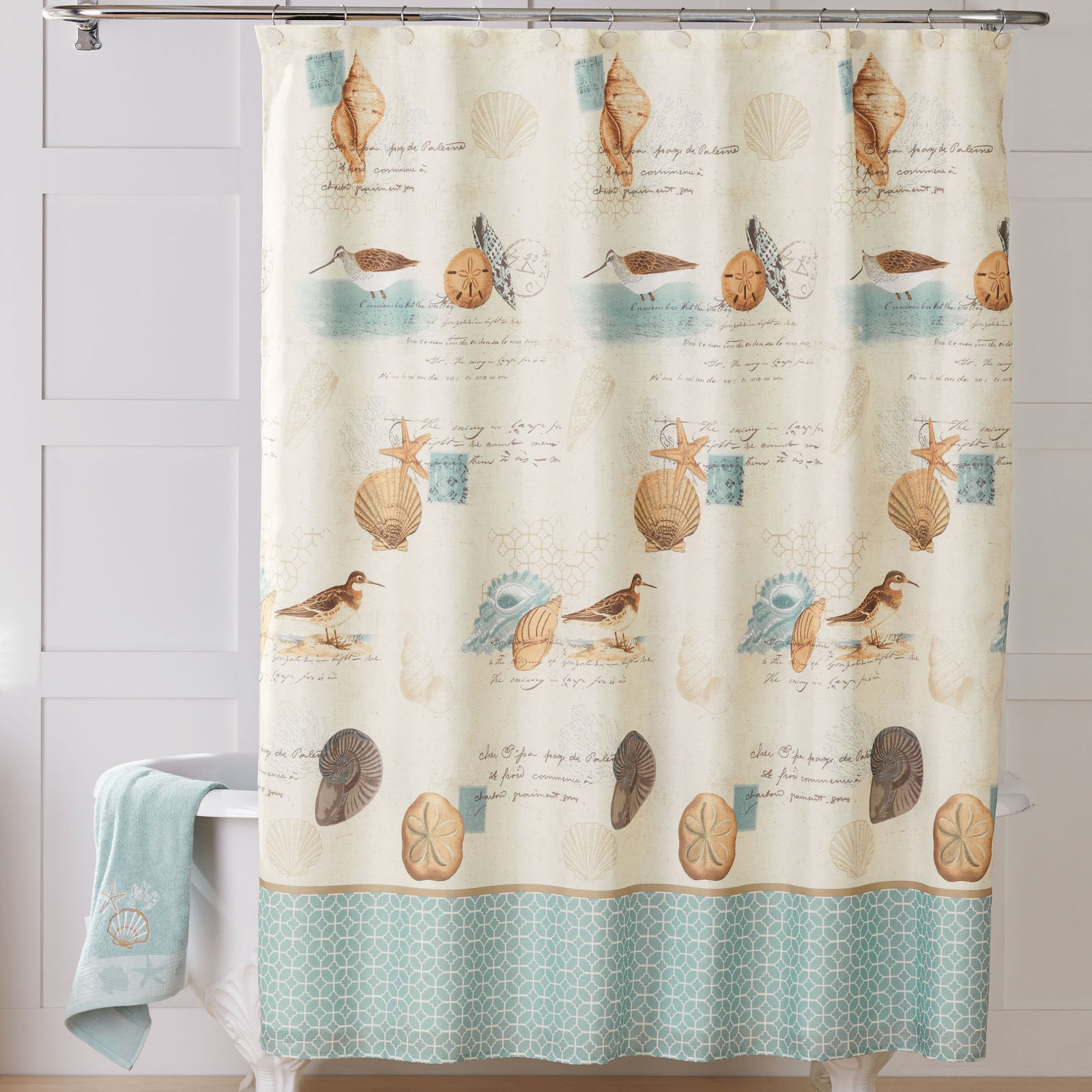 ❤ Shower Curtain Fabric Summer Beach Coastal and 50 similar items