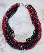 Vintage 1940s Torsade Glass Seed Bead Necklace BEAUTIFUL - $118.78