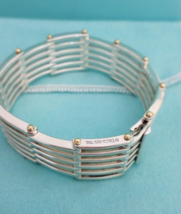 ** Tiffany & Co. gate link bangle bracelet  Sterling Silver 925 750 - $475.00