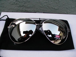 Hommes Neuf Lunettes de Soleil Gentil Style Complet Argent Miroir Haut A... - $10.78