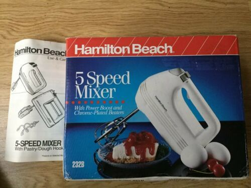 Primary image for Hamilton Beach Proctor Silex 5-SPEED 100 Watt White HAND HELD MIXER 232B NEW