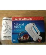 Hamilton Beach Proctor Silex 5-SPEED 100 Watt White HAND HELD MIXER 232B... - $24.24