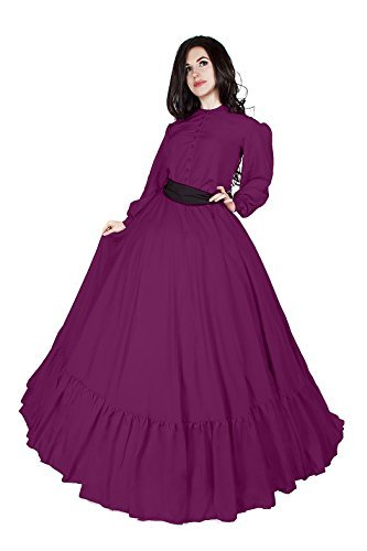 Civil War Reenactment Victorian Garibaldi 3 Piece Dress (2XL/3XL, Orchid)