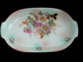 German Wild Rose Blush Bavaria Schumann Arzberg Porcelain Hand Painted T... - $34.64