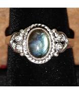 Labradorite Silver handmade gemstone ring size 9 #021 - $30.00