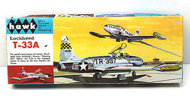 Vintage 1966 Hawk Lockheed T-33A 1:48 USAF Jet Trainer Nice Box+Parts 509-130    - $27.81