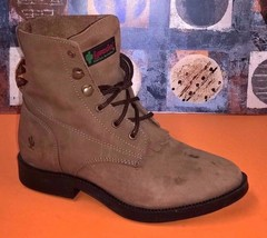 Laredo Youth Lacer Brown Cowboy Boots Sz 1 - $21.49
