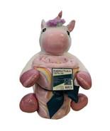 Huggable Plush Unicorn & Throw (50X60) Set  Pink & White Stuffed Animal - $15.99