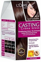 L'Oreal Paris Casting Creme Gloss, Iced Chocolate 415, 87.5g+72ml  FREE ... - $19.70