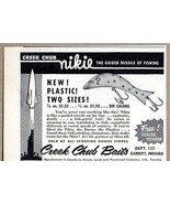 1956 Print Ad Creek Chub Nikie Fishing Lures Garrett,IN - $9.25