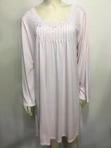 Miss Elaine Woman 1X Pink Nightgown Nightie Long-Sleeve Knee-Length - $37.73