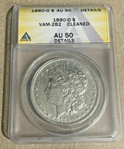 1880-O Nice New Orleans Minted ANACS AU50 VAM-2B2  Morgan Silver Dollar - $53.85