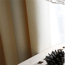 CURTIANS Style Ivory Faux Linen 70% 85% Shading Custom Made Insulating M... - $17.30