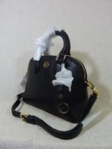 NWT Tory Burch Black Pebbled Mini Robinson Dome Cross Body Bag  - $395 image 3
