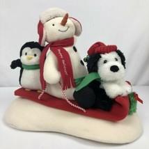 Hallmark Jingle Pals Sleigh Ride Snowman Penguin Dog Animated Musical - $19.79