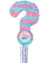 Girl or Boy Gender Reveal Pull String Pinata - Baby Shower Party Supplies - $14.49