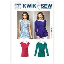Kwik Sew K3790 Asymmetric Tops Sewing Pattern, Size XS-S-M-L-XL - $15.68