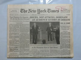 The New York Times 1992 October 16 Bush Clinton Debate Soviets Jet Downe... - $39.99