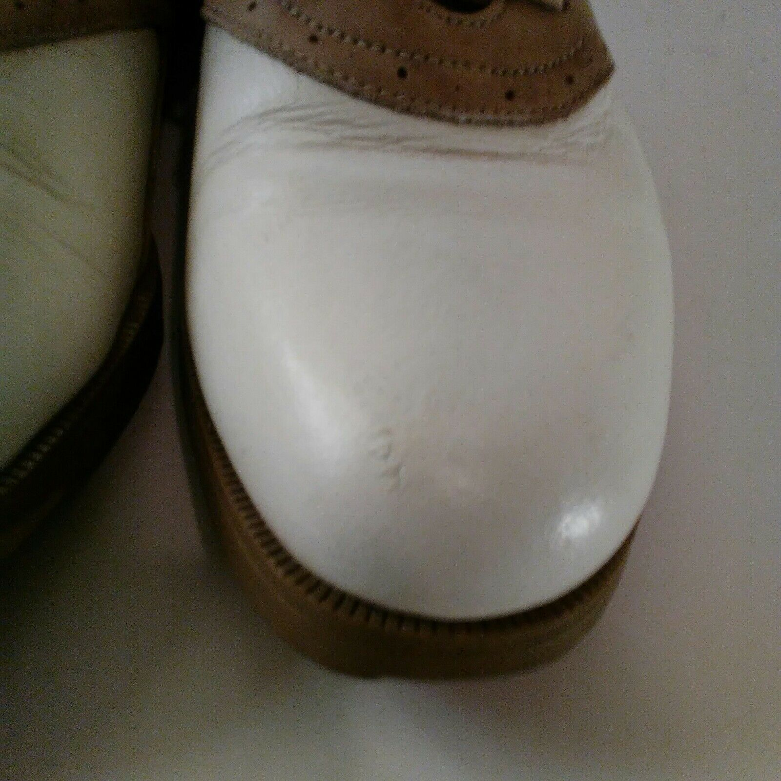Nike Air Classic Plus White & Brown Saddle Golf Shoes Size 9 image 4