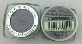 L'Oréal Paris Color Infaillible Eyeshadow Flashback Silver 015 *Twin Pack* - $12.99