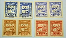 VENEZUELA Air Mail Stamps Scott C218-C221 Imperforate Pairs, Mint - $9.00