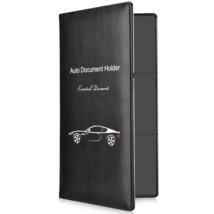 Auto Car Document Holder Wallet Leather Magnetic Closure Water Resistant... - $15.30