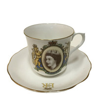 Vintage Royal Albert England Queen Elizabeth II Coronation Bone China Te... - $30.86