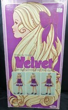VINTAGE 1970  IDEAL CRISSY'S COUSIN VELVET DOLL -  HAIR THAT GROWS with BOX - $49.49