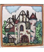 Chateau III  by J.E. Fischer  Hand Colored Etching - $55.00