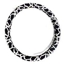 PANDA SUPERSTORE Fashion Design Classic Leopard Girl Steering Wheel Cover,Black