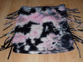 Girls Size XS Disney D Signed Pink Black Gray Tie Dyed Fringed Skirt EUC - $12.00