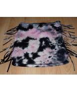 Girls Size XS Disney D Signed Pink Black Gray Tie Dyed Fringed Skirt EUC - $12.00
