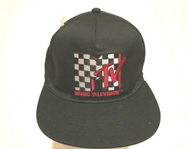 MTV Music Television 2017 Adult Unisex Black Red White Checker Cap One S... - $19.79