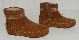 I Love Yo Kids AVA 78K Girls Fringe Boot Rust Silver Studded Size 13 image 3