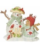 """Roman Cherished Teddies, Snowman and Betty Teddie Figure, 4"""" H - $16.82"""