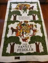 Vintage Linen Tea Towel Kay Dee Orignal Tag Sewell Jackson The Yankee Pe... - $10.84