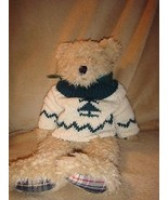 Boyds Bears Large Shaggy Bear With Plaid Paws - $16.99