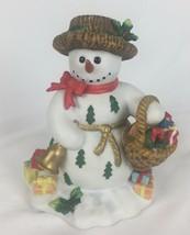 Partylite Snowbell with Basket Votive Tealight Holder Figurine P7649 - $19.89