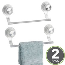 mDesign Strong Suction Wall Mount Plastic/Metal Wash Cloth Hand Towel Ba... - $17.13