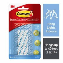Command Decorating Clips, Clear, 20-Clip, 6-Pack image 1