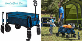 Timber Ridge Folding Camping Wagon/Cart - 35.5x18.4x39 inches, Blue-side... - $150.30