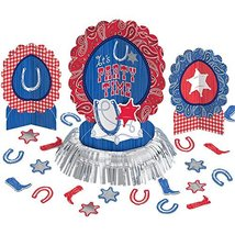 amscan High Riding Western Party Table Decorating Kit (23 Piece), Silver... - $12.30