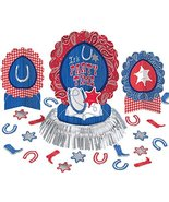 amscan High Riding Western Party Table Decorating Kit (23 Piece), Silver... - $10.43