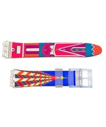 Swatch Replacement 17mm Plastic Watch Band Strap Building Design - $9.25