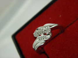 Sterling Silver Diamond 0.30 tcw  Ring Size 6.50  - $57.82