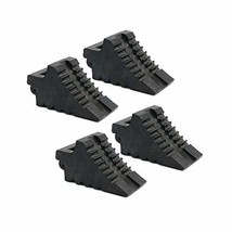 AFA Chock Blocks 4 Pcs Rubber Dual Wheel Tire Chocks Front and Back for Camper,
