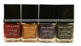 WET N WILD Nail Polish COLORICON Color/Enamel HOLIDAY Glitter *YOU CHOOS... - $5.97