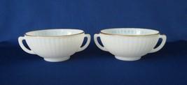 MacBeth Evans, Gold Decorated, Cream Soup Bowls, circa 1930-40 - $16.00
