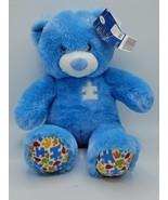 "Build A Bear BAB Autism Speaks Awareness Blue 16"" Plush Puzzle Paws & Shirt - $49.49"