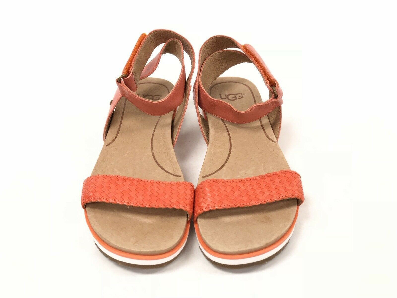 Ugg Australia Laddie Women's Ankle Strap Fire Opal Orange Sandal 1015669 Shoes image 6